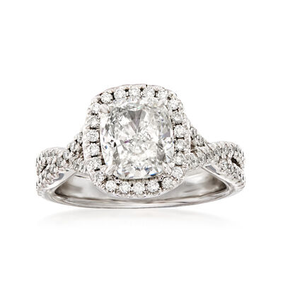 Henri Daussi 2.65 ct. t.w. Diamond Engagement Ring in 18kt White Gold, , default