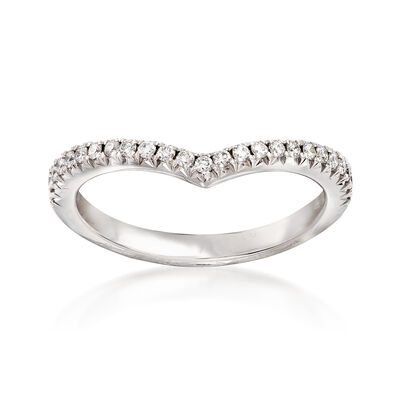 Henri Daussi .18 ct. t.w. Diamond Wedding Ring in 14kt White Gold, , default