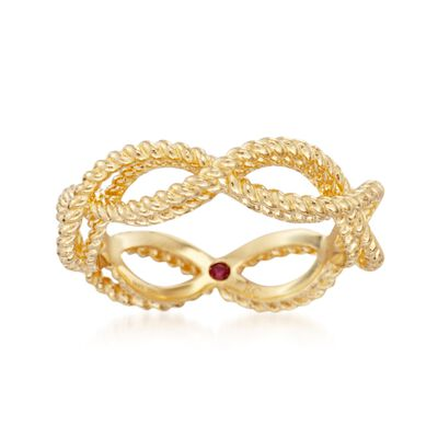 """Roberto Coin """"Barocco"""" 18kt Yellow Gold Braided Ring, , default"""