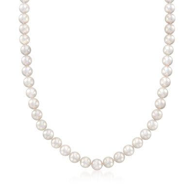 Mikimoto 7-7.5mm 'A' Akoya Pearl Necklace With 18kt White Gold, , default