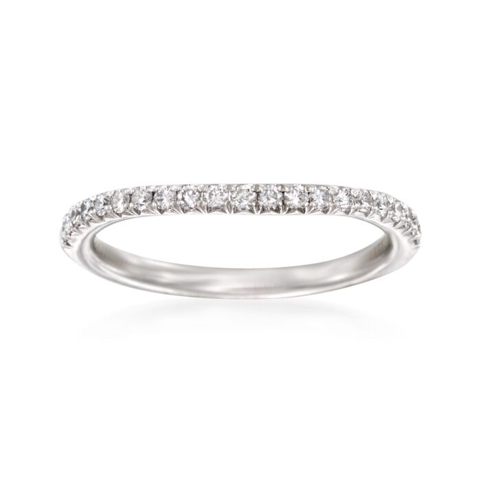 Henri Daussi .30 ct. t.w. Diamond Wedding Ring in Platinum