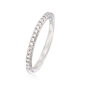 Gabriel Designs .20 ct. t.w. Diamond Wedding Ring in 14kt White Gold. Size 7, , default