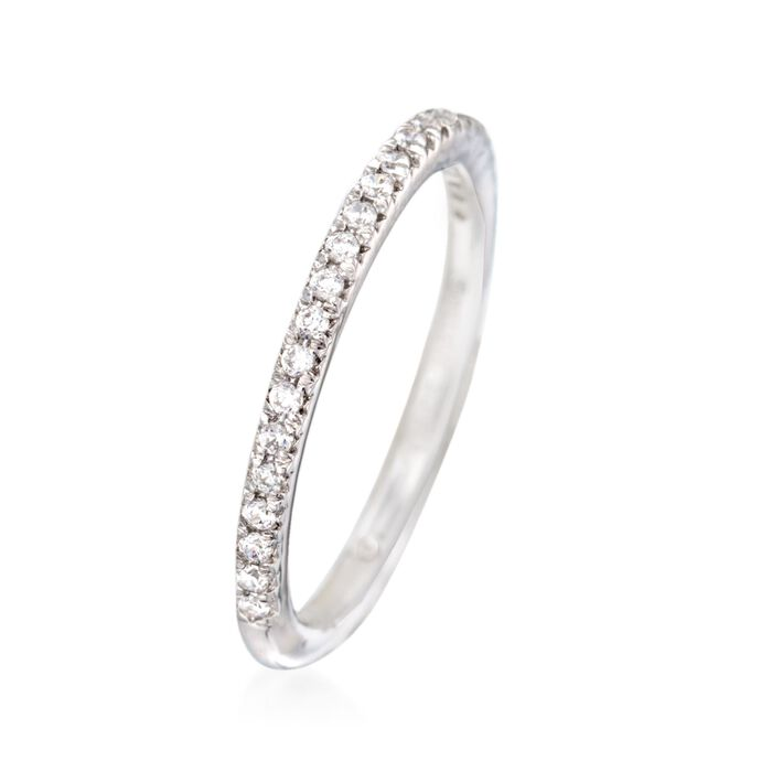 Gabriel Designs .20 ct. t.w. Diamond Wedding Ring in 14kt White Gold
