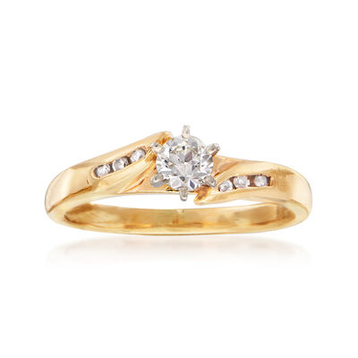 C. 1980 Vintage .33 ct. t.w. Diamond Ring in 14kt Yellow Gold, , default