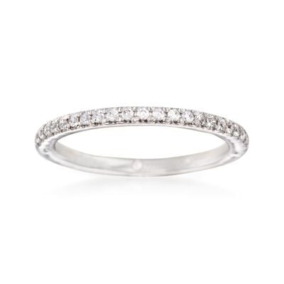 Gabriel Designs .20 ct. t.w. Diamond Wedding Ring in 14kt White Gold, , default