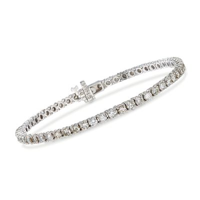 C. 2000 Vintage 5.33 ct. t.w. Diamond Tennis Bracelet in 14kt White Gold, , default