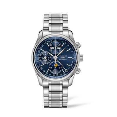 Longines Master Men's 40mm Auto Chronograph Moonphase Stainless Steel Watch