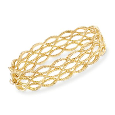 "Roberto Coin ""Barocco"" 18kt Yellow Gold Braided Bangle Bracelet, , default"