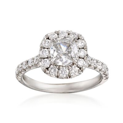 Henri Daussi 1.81 ct. t.w. Certified Diamond Engagement Ring in Platinum