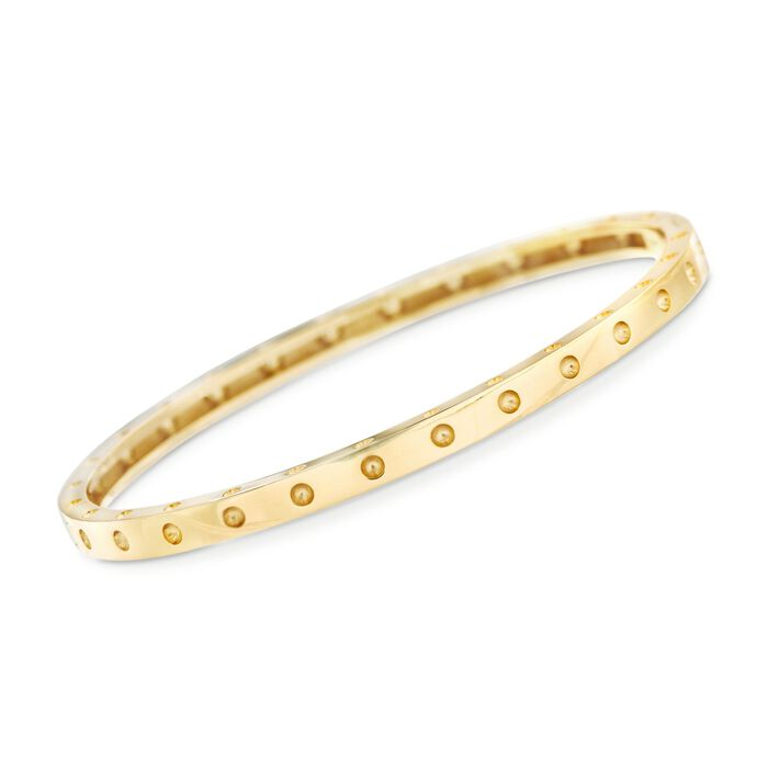 "Roberto Coin Symphony Pois Moi 18-Karat Yellow Gold Bangle. 7"", , default"