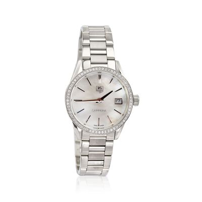 TAG Heuer Carrera Women's 32mm .62 ct. t.w. Diamond Watch in Stainless Steel