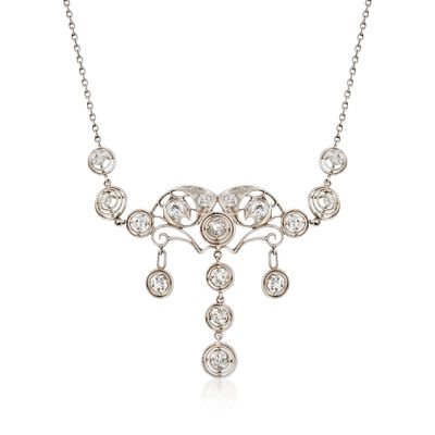 C. 1910 Vintage 2.00 ct. t.w. Diamond Chandelier Necklace in Platinum, , default