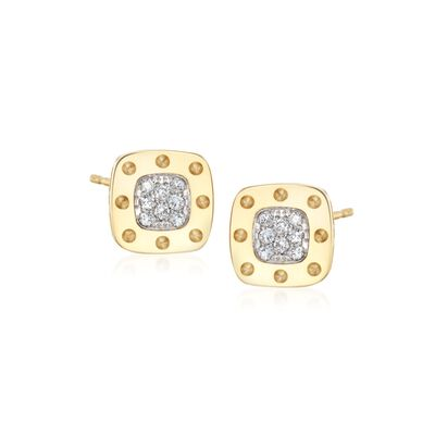 "Roberto Coin ""Pois Moi"" .24 ct. t.w. Diamond Stud Earrings in 18kt Yellow Gold, , default"