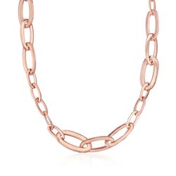 "Roberto Coin ""Oro Classic"" 18kt Rose Gold Narrow Link Necklace, , default"
