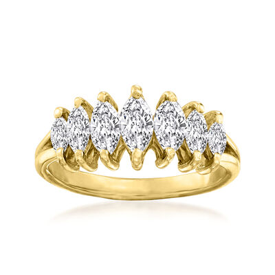 C. 1980 Vintage .75 ct. t.w. Diamond Ring in 14kt Yellow Gold