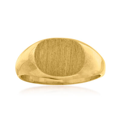 C. 1970 Vintage 10kt Yellow Gold Oval Signet Ring