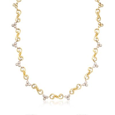 C. 2000 Vintage Seidengang 1.40 ct. t.w. Diamond Swirl Link Necklace in 18kt Yellow Gold, , default