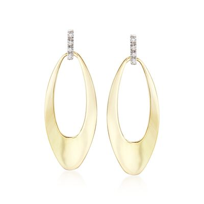 "Roberto Coin ""Chic & Shine"" 18kt Yellow Gold Drop Earrings With Diamond Accents, , default"