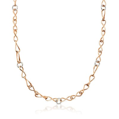 C. 1990 Vintage 18kt Two-Tone Gold Link Necklace, , default