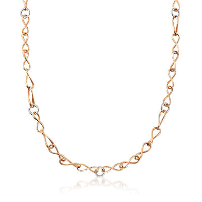 C. 1990 Vintage 18kt Two-Tone Gold Link Necklace