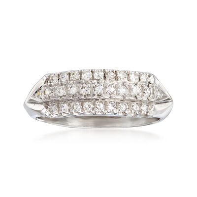 C. 1950 Vintage .50 ct. t.w. Diamond Three-Row Ring in Platinum, , default