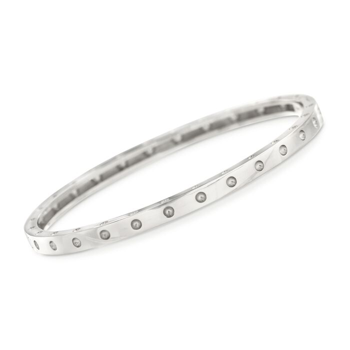 "Roberto Coin Symphony Pois Moi 18-Karat White Gold Bangle. 7"", , default"