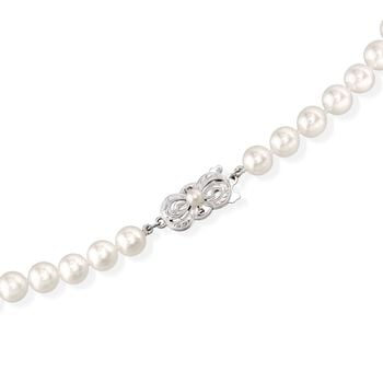 """Mikimoto 6.5-7mm 'A' Akoya Pearl Necklace With 18-Karat White Gold. 16"""", , default"""