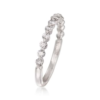 Henri Daussi .46 ct. t.w. Diamond Wedding Ring in 18kt White Gold, , default
