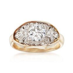 C. 1950 Vintage 1.96 ct. t.w. Diamond Ring in Platinum and 14kt Yellow Gold, , default