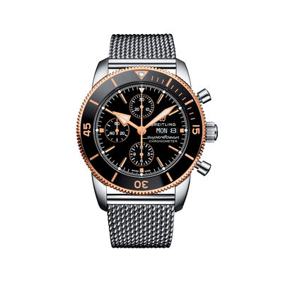 Breitling Superocean Heritage II Chronograph Men's 44mm Stainless Steel Watch - Black Dial, , default