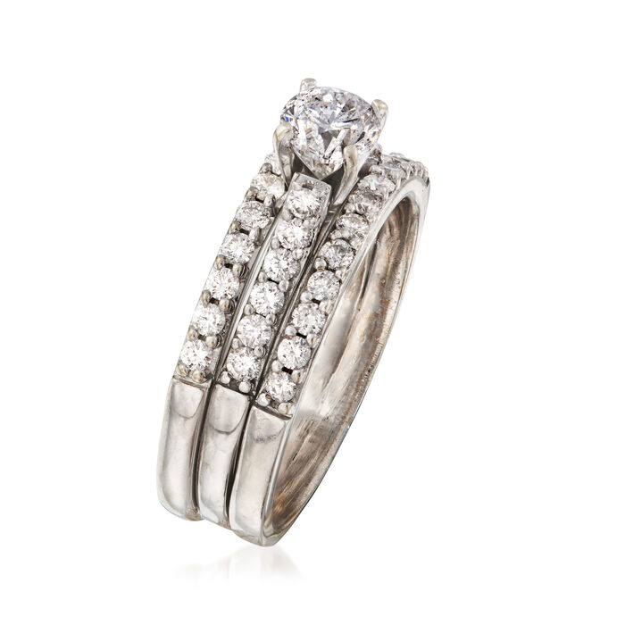 C. 1990 Vintage 1.50 ct. t.w. Diamond Engagement Ring in 18kt White Gold