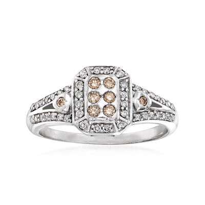 C. 1980 Vintage .50 ct. t.w. Diamond Ring in 14kt White Gold