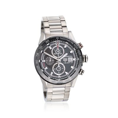 TAG Heuer Carrera Men's 43mm Chronograph Stainless Steel Watch , , default