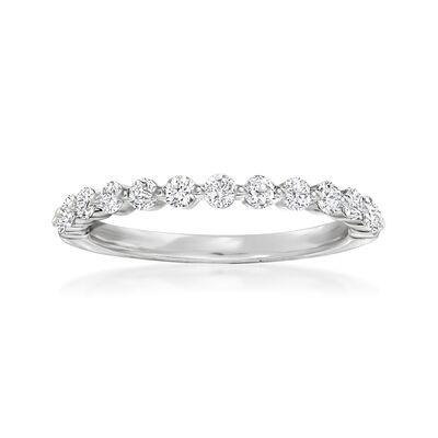 Henri Daussi .50 ct. t.w. Diamond Wedding Ring in 14kt White Gold