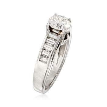 C. 2000 Vintage 1.93 ct. t.w. Certified Diamond Ring in Platinum. Size 4.5, , default