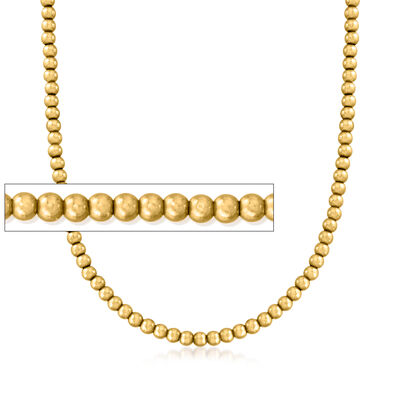C. 1940 Vintage 10kt Yellow Gold Bead Choker Necklace