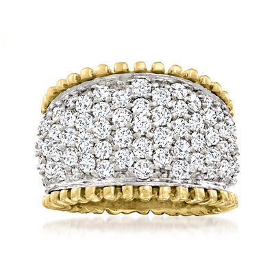 C. 1990 Vintage 2.30 ct. t.w. Diamond Ring in 14kt Two-Tone Gold