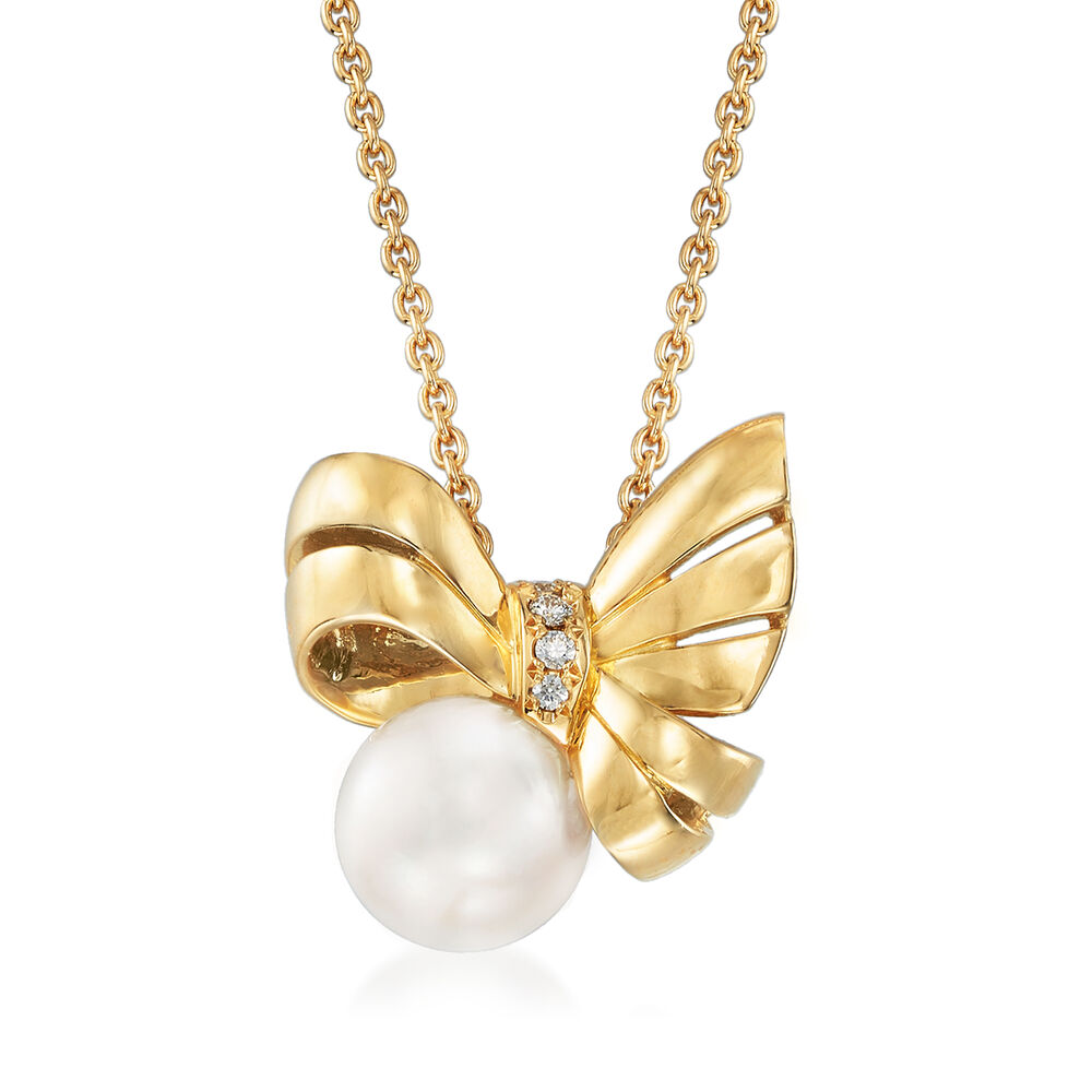 Gold Bow Necklace