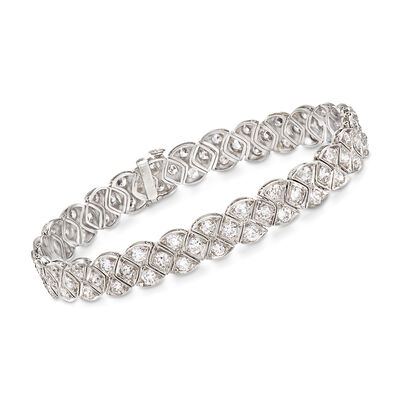C. 1950 Vintage 5.75 ct. t.w. Diamond Bracelet in Platinum