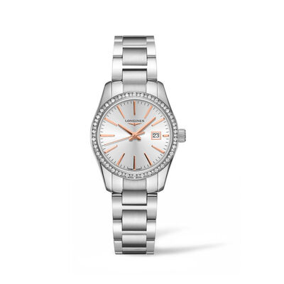 Longines Conquest Classic Women's 29mm .31 ct. t.w. Diamond Watch in Stainless Steel