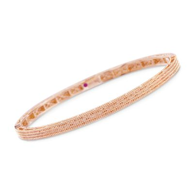 "Roberto Coin ""Symphony"" Barocco Bangle Bracelet in 18kt Rose Gold, , default"