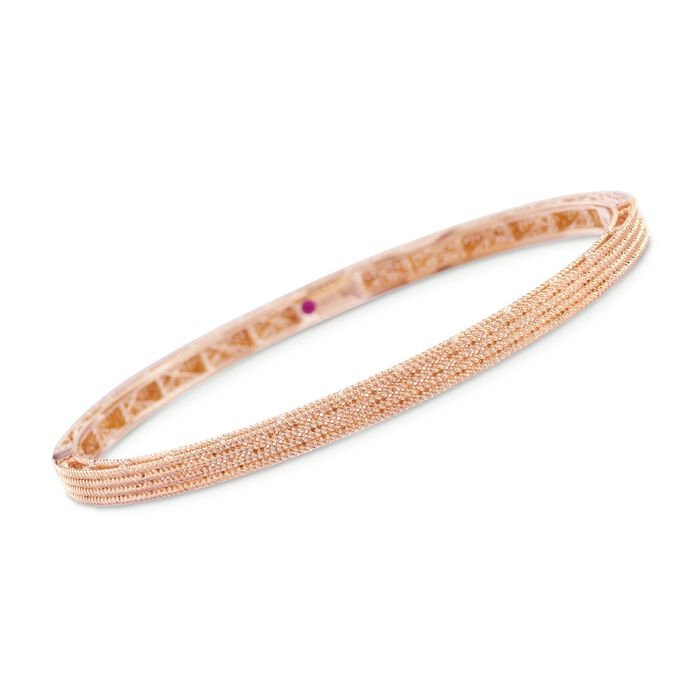 "Roberto Coin Symphony Barocco 18-Karat Rose Gold Four-Row Bangle. 7"", , default"