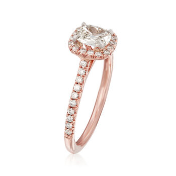 Henri Daussi .88 ct. t.w. Diamond Halo Engagement Ring in 14kt Rose Gold, , default