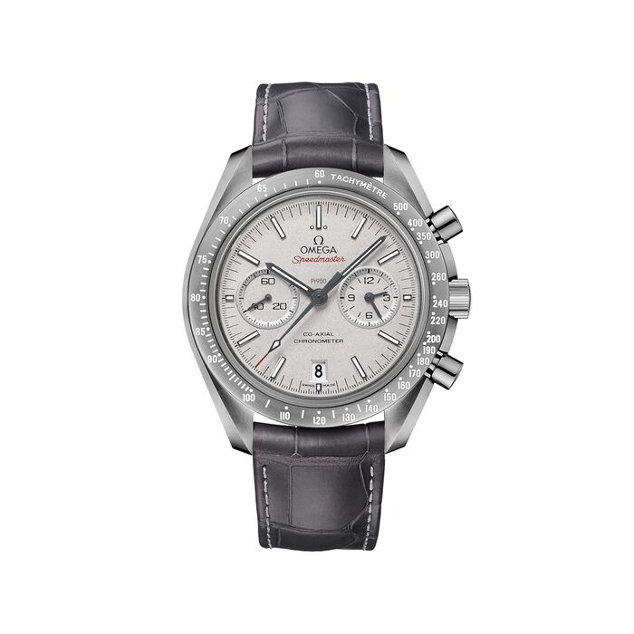 Omega Speedmaster Grey Side of the Moon 44.25mm Men's Auto Chronograph Ceramic Watch with Leather, , default