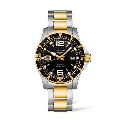 Longines Hydroconquest Men's 41mm Automatic Stainless Steel and Gold-Plated Watch