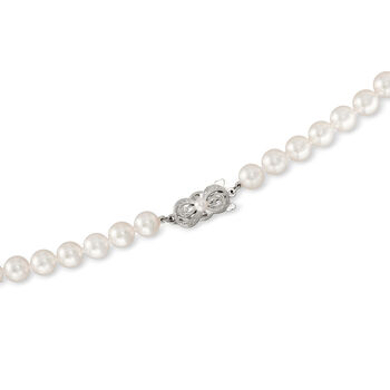 Mikimoto Graduated Akoya Necklace in 18-Karat White Gold. 18""