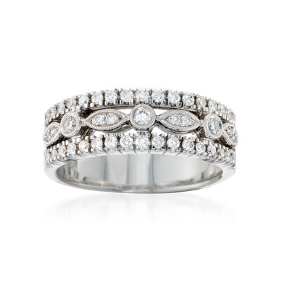 .45 ct. t.w. Diamond Band Ring in 18kt White Gold, , default