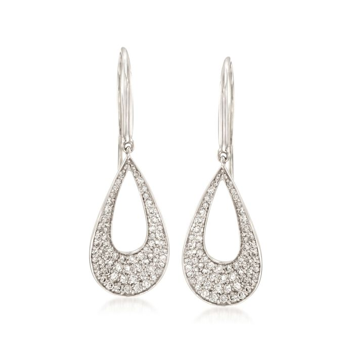 Roberto Coin .70 Carat Total Weight Diamond Earrings in 18-Karat White Gold, , default