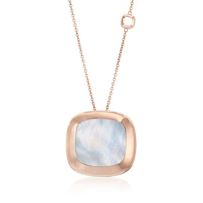 "Roberto Coin ""Carnaby Street"" Mother-Of-Pearl Pendant Necklace in 18kt Rose Gold"