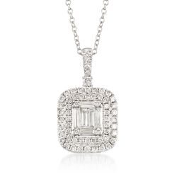 .96 ct. t.w. Diamond Pendant Necklace in 18kt White Gold, , default